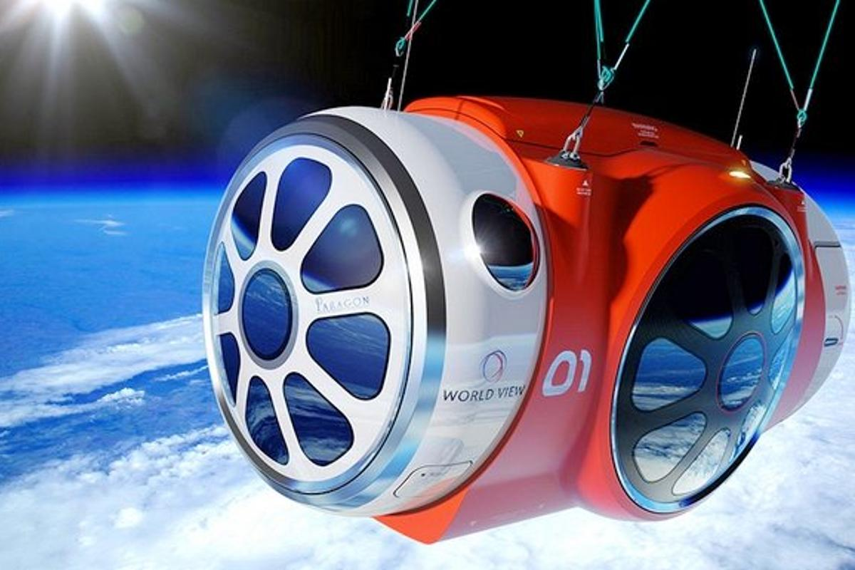 Artist's concept of the World View balloon capsule in flight (Photo: World View Enterprises)