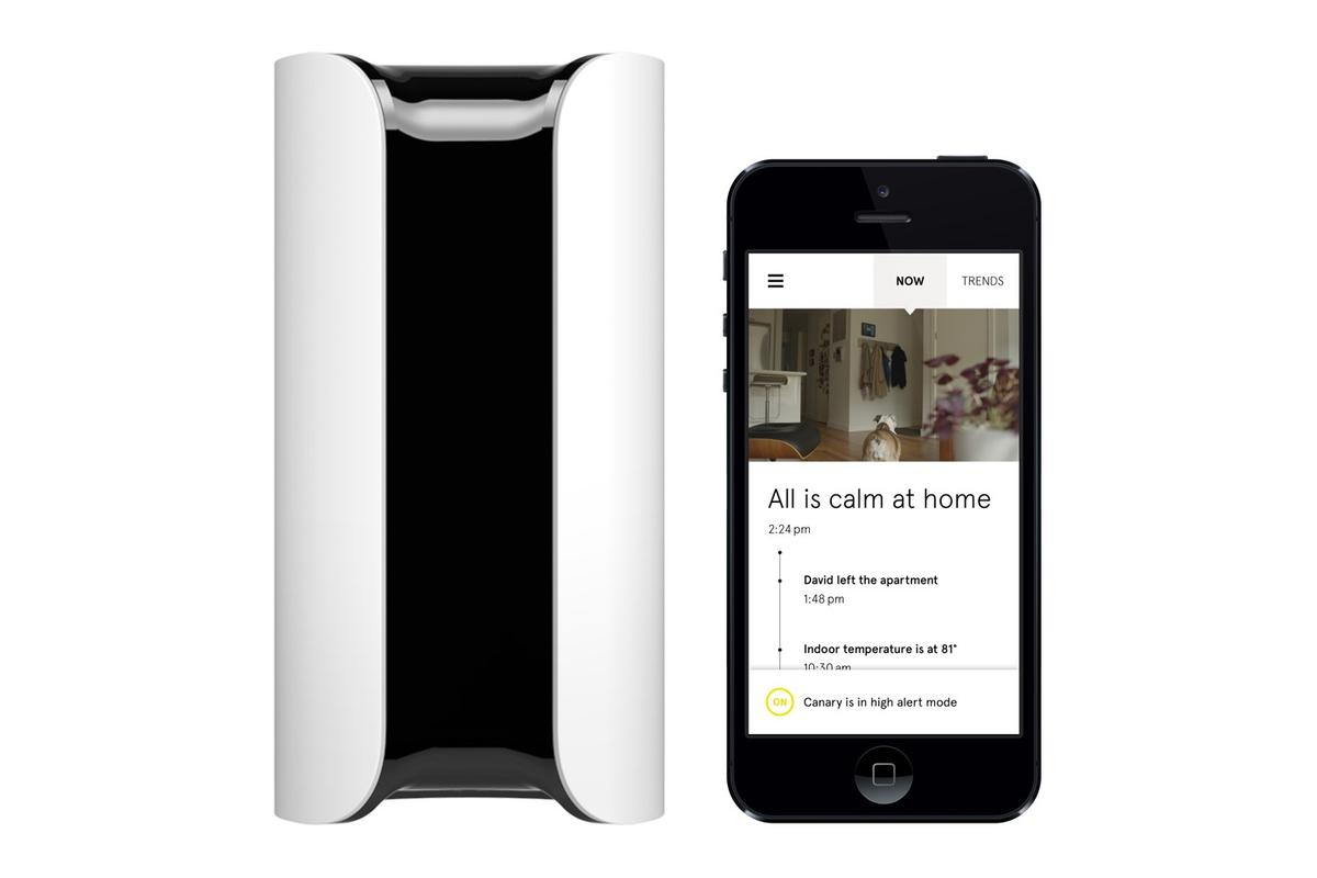The Canary security system is controlled by a smartphone app
