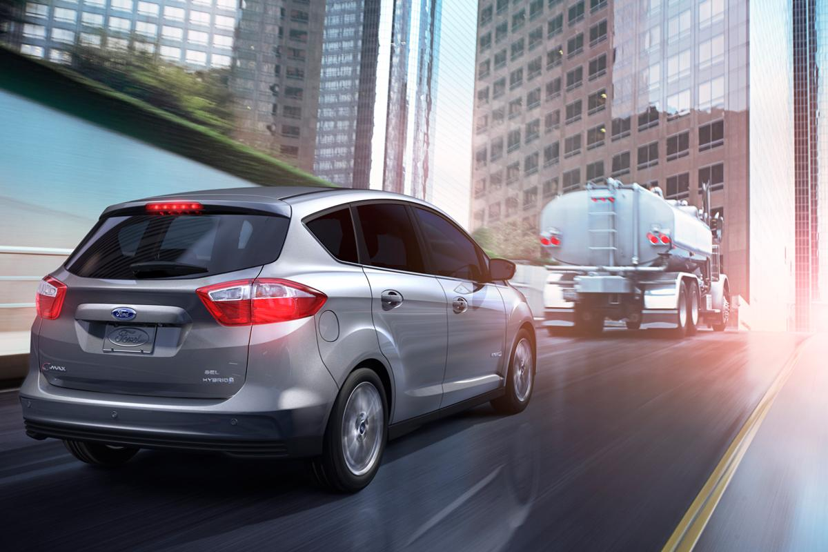 Ford's C-MAX Hybrid gets the same fuel economy in the city as on the highway