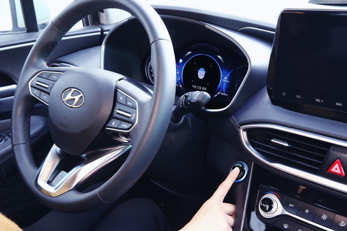 The 2019 Santa Fe SUV will be Hyundai's first fingerprint-scanning car