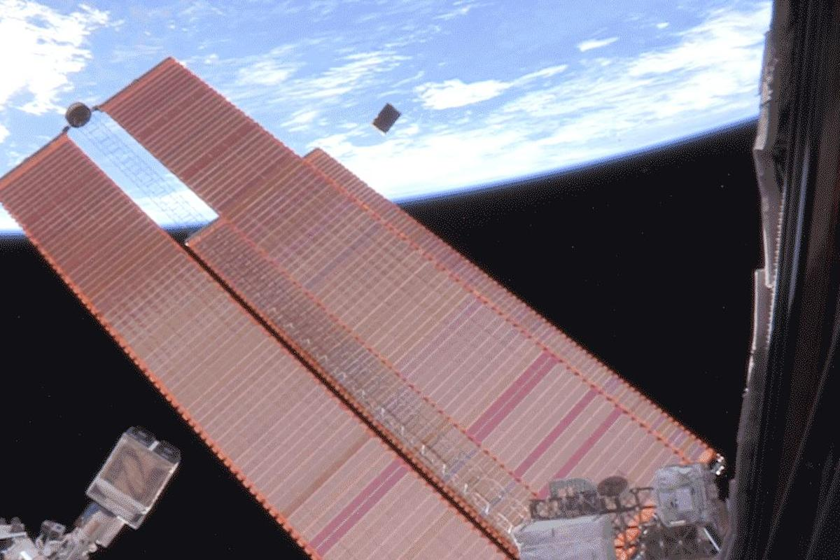 ASTERIA being deployed from the ISS