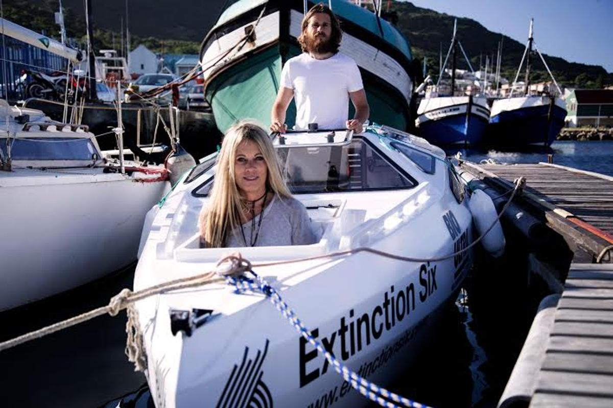 The Atlantic Project mother-and-son team of David du Plessis and Robyn Wolff are aiming to cross the south Atlantic on a pedal-powered boat