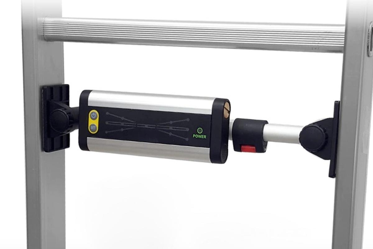 The Step Smart's telescoping bracket should reportedly allow it to fit a wide range of ladders