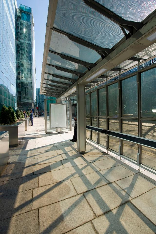 London's first transparent solar bus shelter