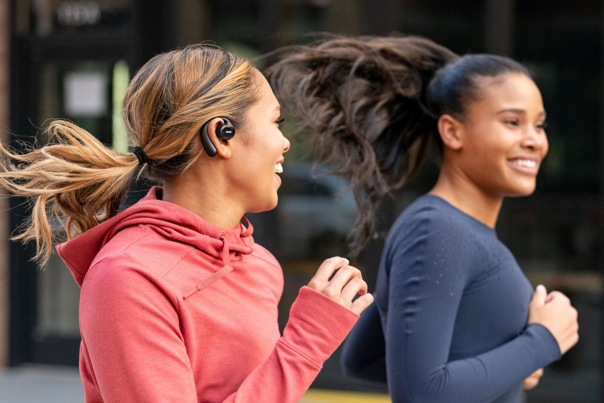 """The Bose Sport Open Earbuds are designed to sit above the ear canal """"to redefine personal listening"""""""