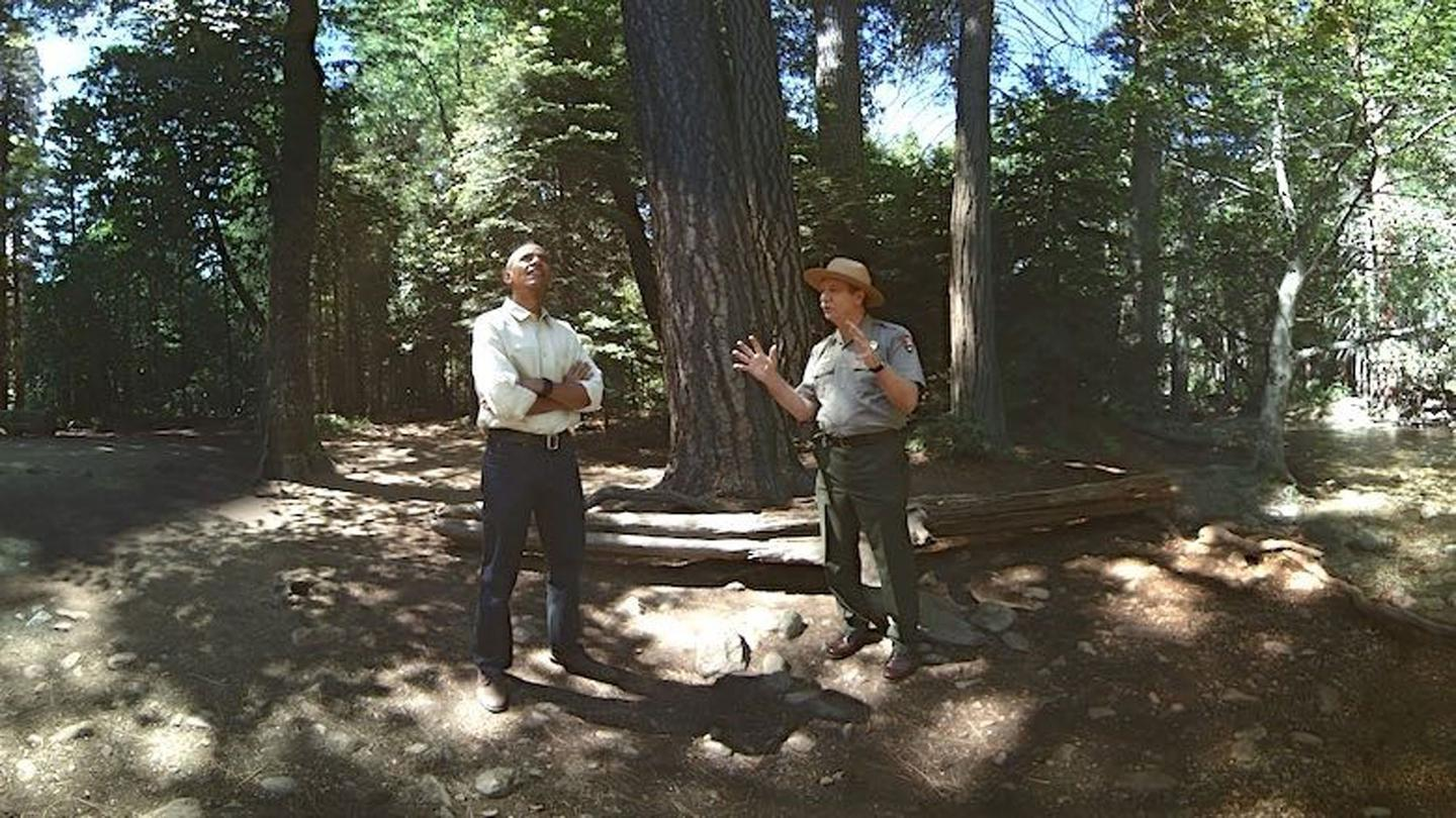 "A scene from ""Through the Ages,"" a VR experience touring Yosemite National Park alongside President Obama"