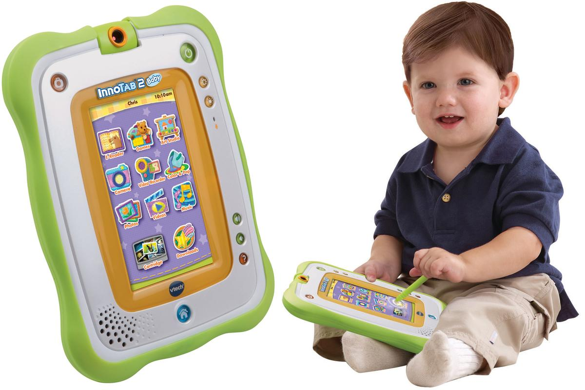 The InnoTab 2 Baby features a baby-friendly design and comes pre-loaded with baby-centric content