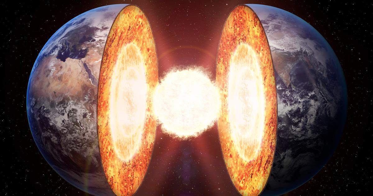 "Evidence points to ""iron snow"" falling on Earth's inner core"