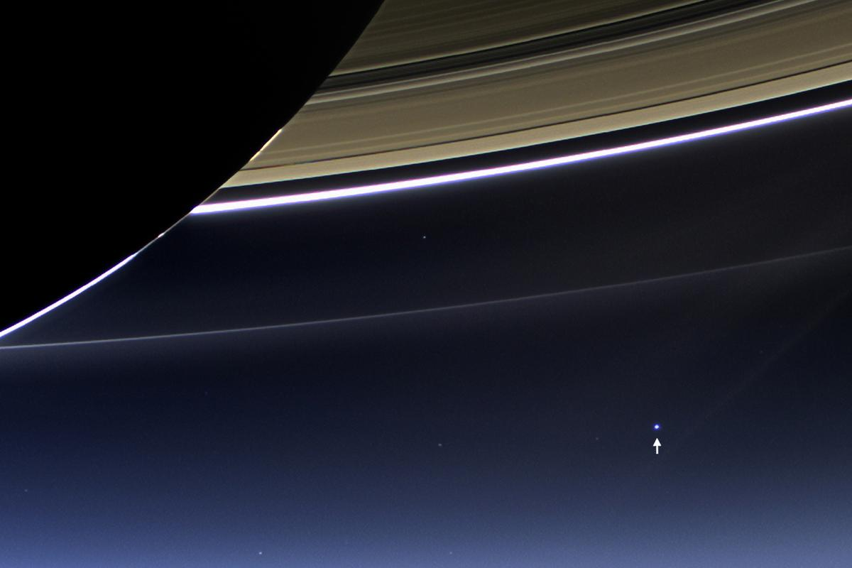 Picture taken from Cassini in 2013, displaying the Earth as seen from orbit around Saturn (Photo: NASA/JPL-Caltech/Space Science Institute)