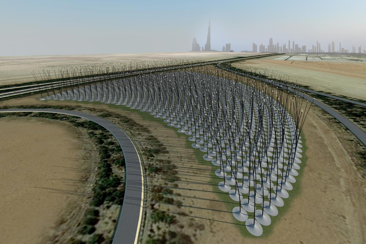 The Windstalk concept would generate electricity from the wind without turbines