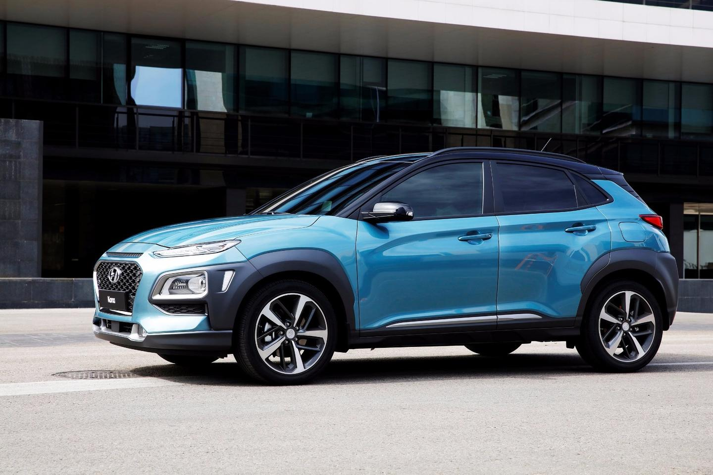 The nose of the Kona borrows some styling cues fromCitroen