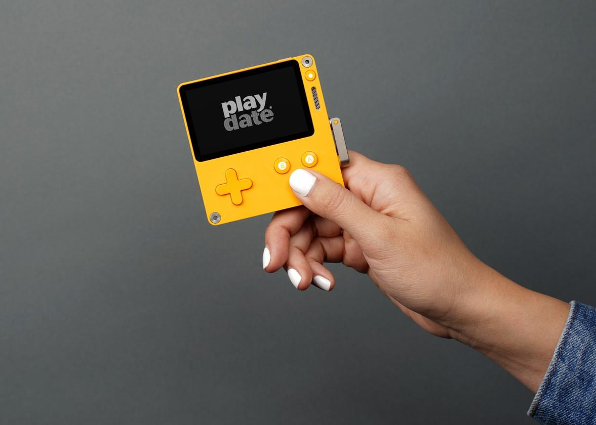 Panic's Playdate is truly pocket-sized, coming in at 74 x 76 mm (2.9 x 3 in) and only 9 mm (0.35 in) thin