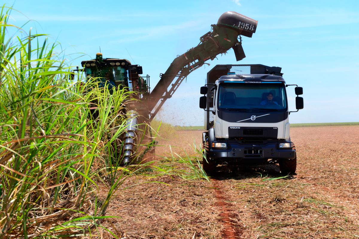 Volvo says its self-steering trucks have the potential to avoid considerable damage to soil and crops