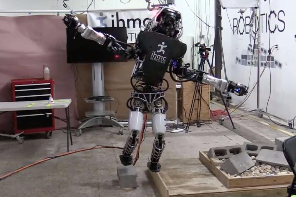 Boston Dynamic's Atlas robot balances on a 2 cm-wide board courtesy of an algorithm from IHMC