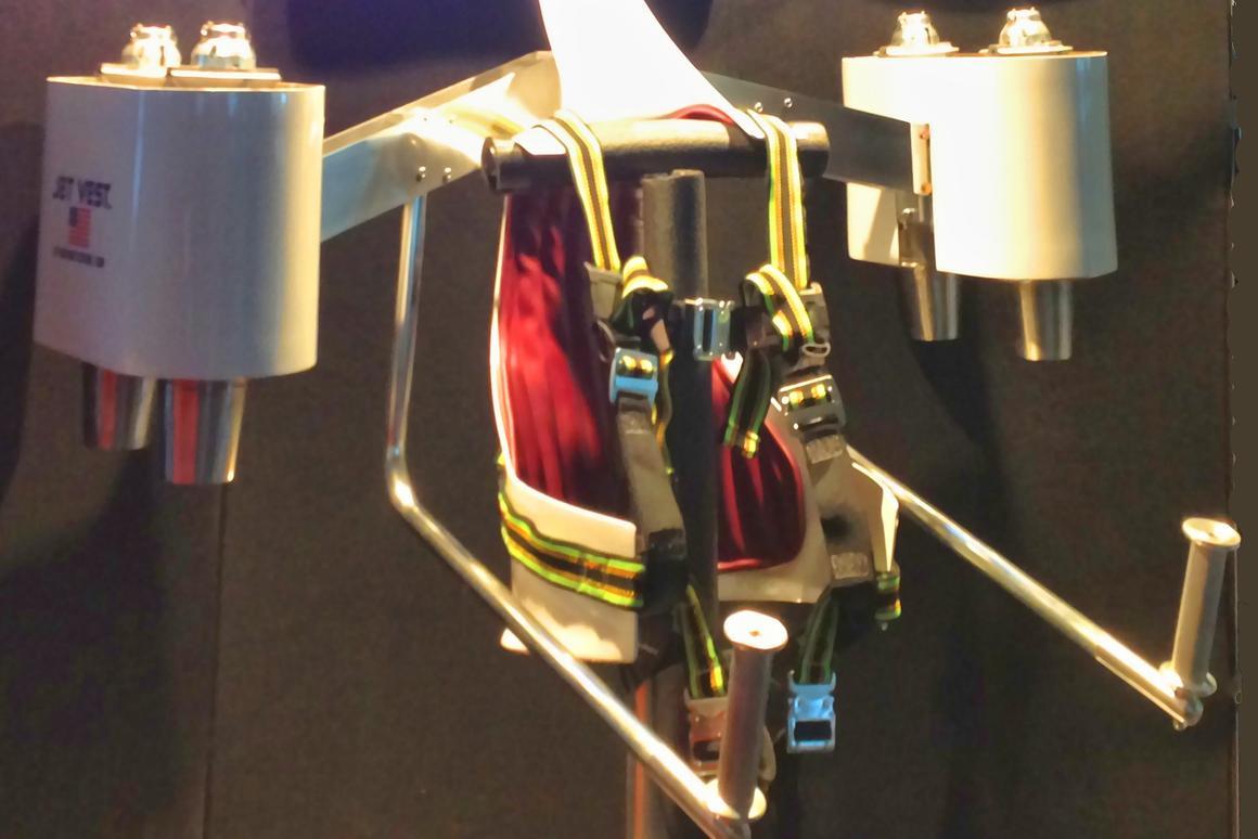 Micro jet turbine-powered Jet Vest developers seek a Kickstart