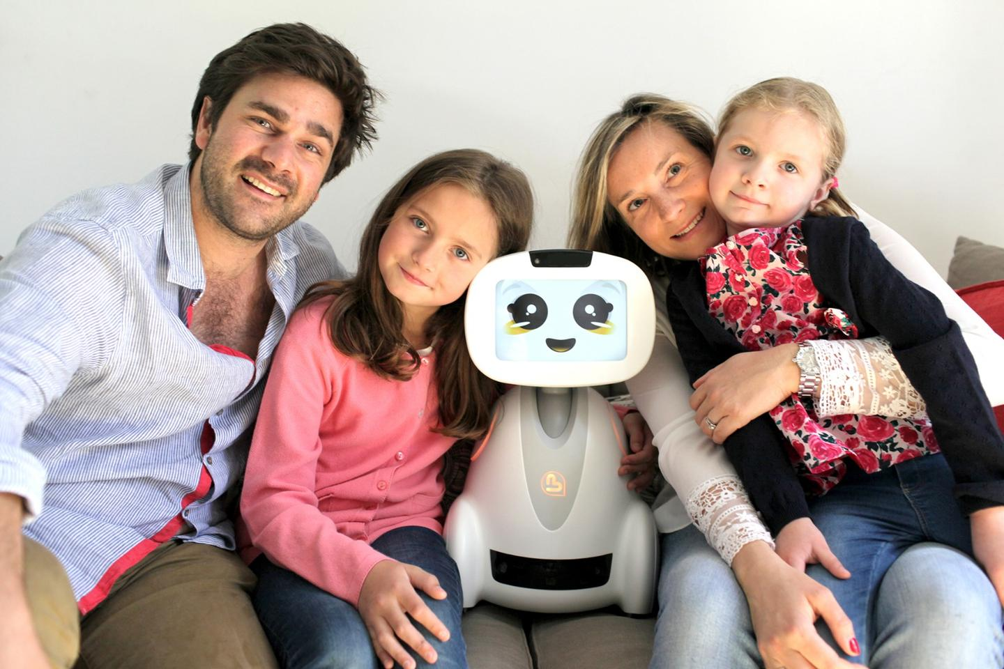 The Buddy robot features a camera, ultrasound, infra-red and thermal sensors, a range-finder sensor, a temperature sensor and ground detectors