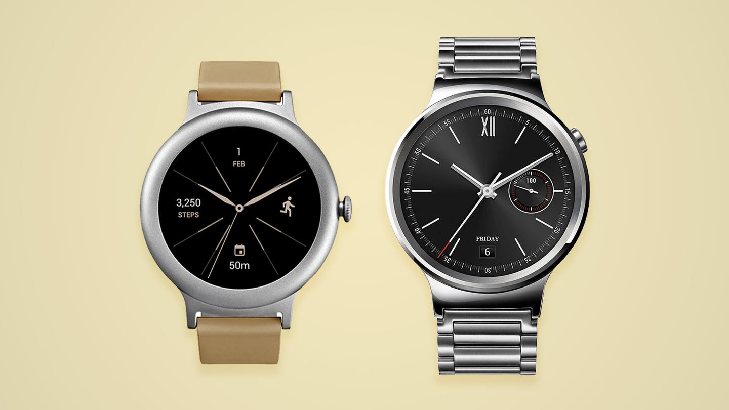 Comparing  two 42 mm round smartwatches: LG Watch Style and the Huawei Watch