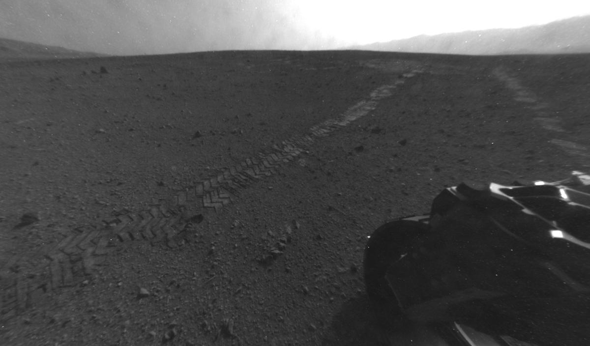 Location of Curiosity's arm tests (Photo: NASA/JPL-Caltech)