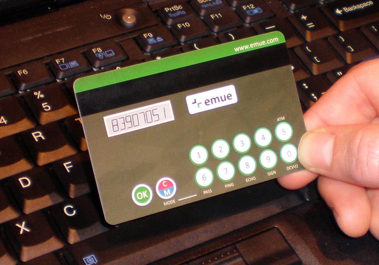 Emue Technologies next generation smart credit card