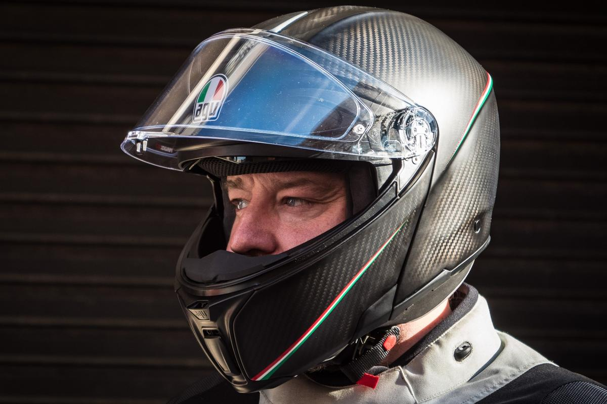 Review Agv S Carbon Sportmodular Is A No Compromise Flip Face Even Sport Riders Will Love