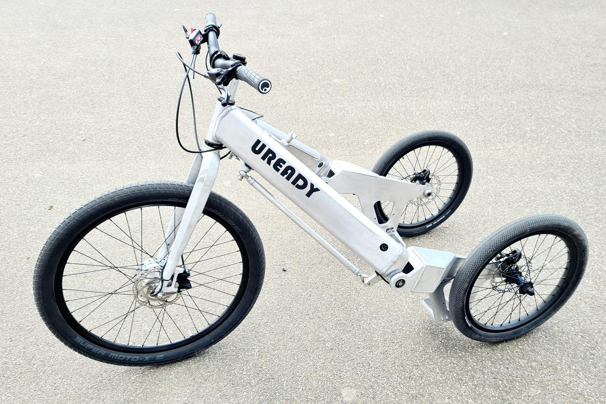 The Uready tilting electric trike is currently on Kickstarter