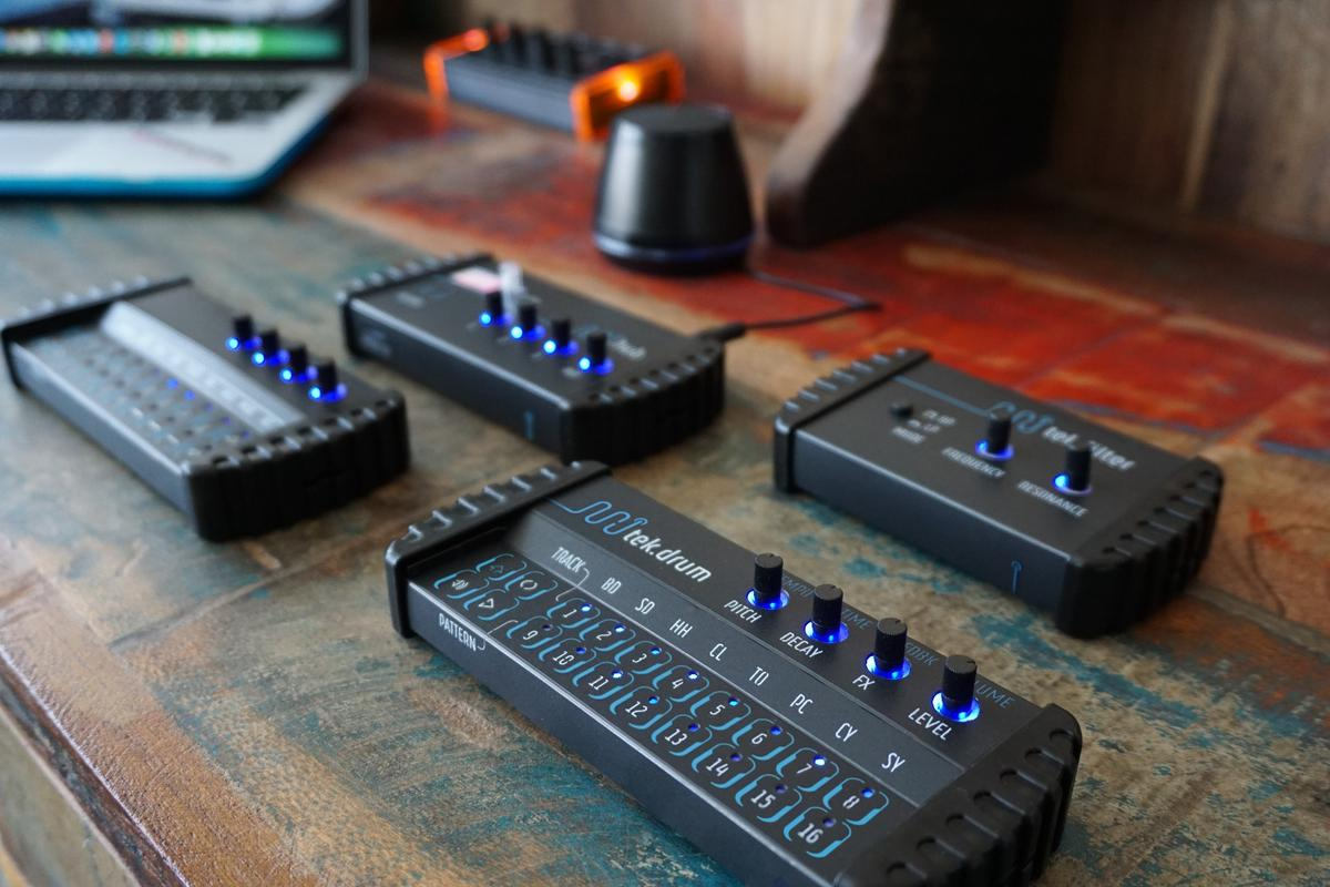 The minijam studio modules are pocket-sized, and designed to be pocket money friendly, too
