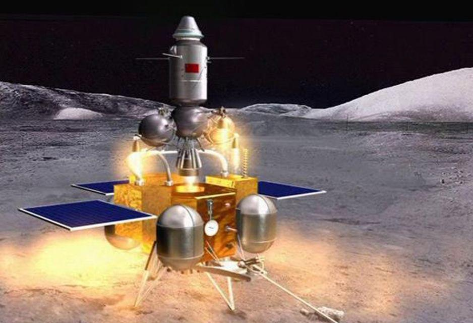 An artist's rendering of Chang'e-5, which will return lunar samples to Earth