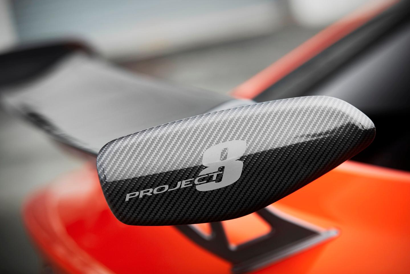 The big rear wing on the Jaguar XE SV Project 8
