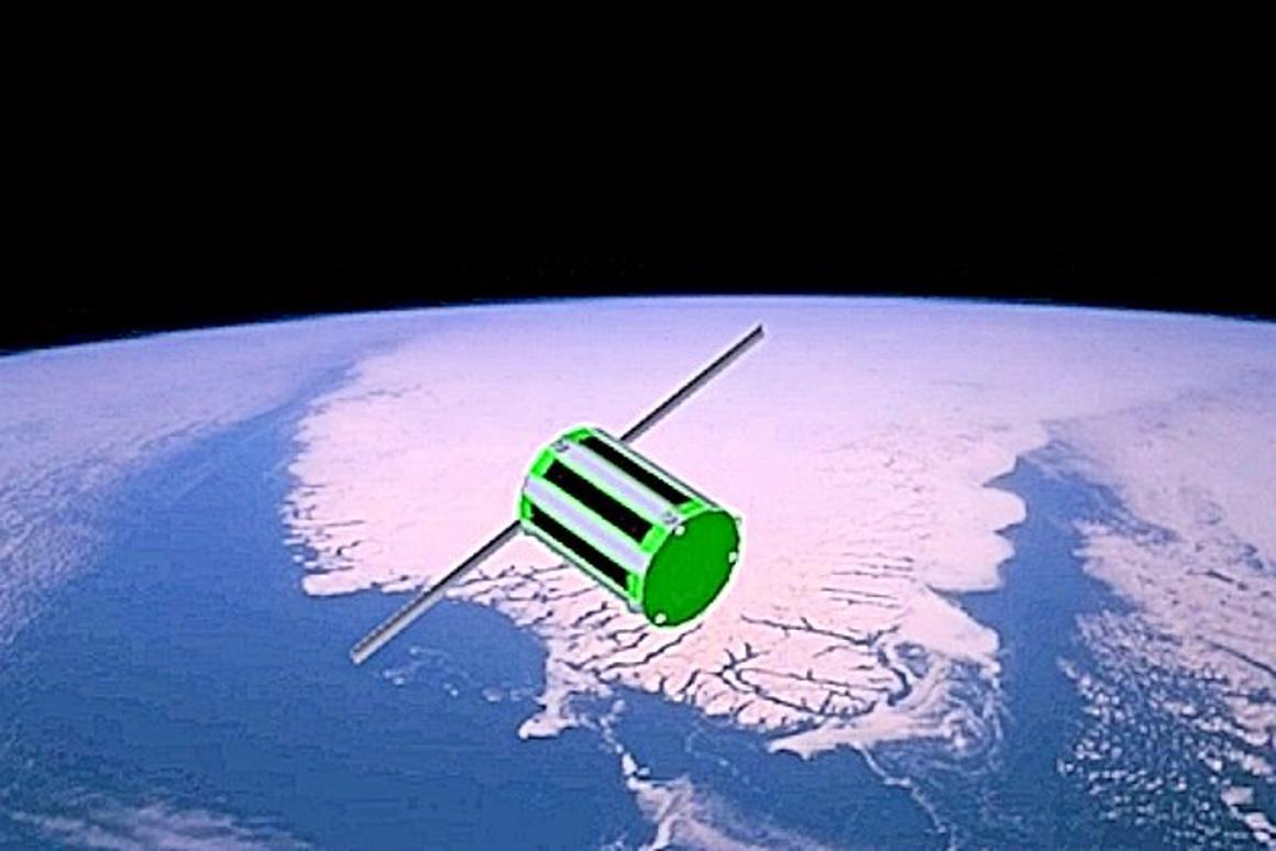 An Interorbital Systems TubeSat in low Earth orbit