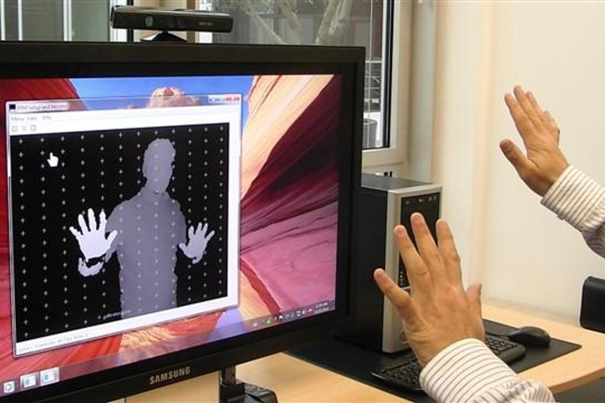 Newly-developed software allows the Microsoft Kinect gesture-based gaming platform to be used to control the Windows 7 operating system