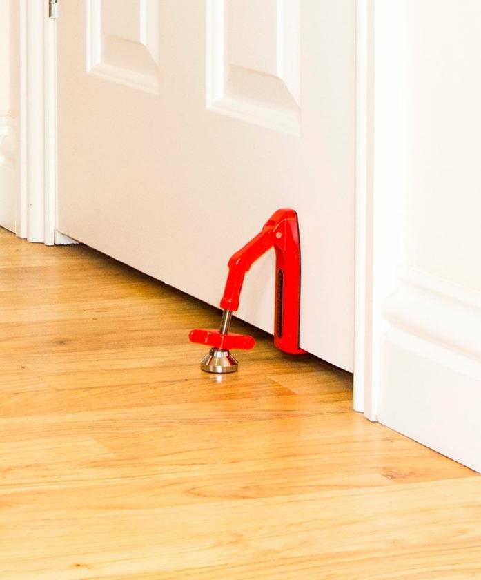 The DoorJammer helps keep doors from being forced open