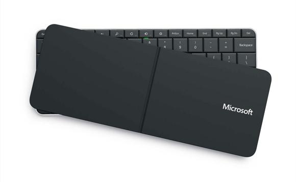 The Wedge Mobile Keyboard, featuring a dual-purpose cover/folding stand