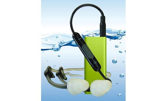 The newly waterproofed 3rd gen iPod Shuffle from Swimman