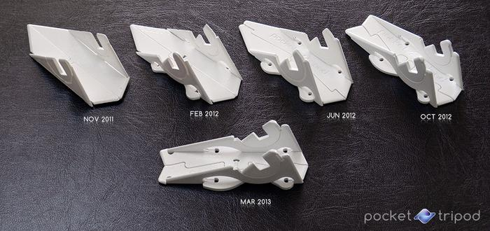 The prototype evolution of the Pocket Tripod