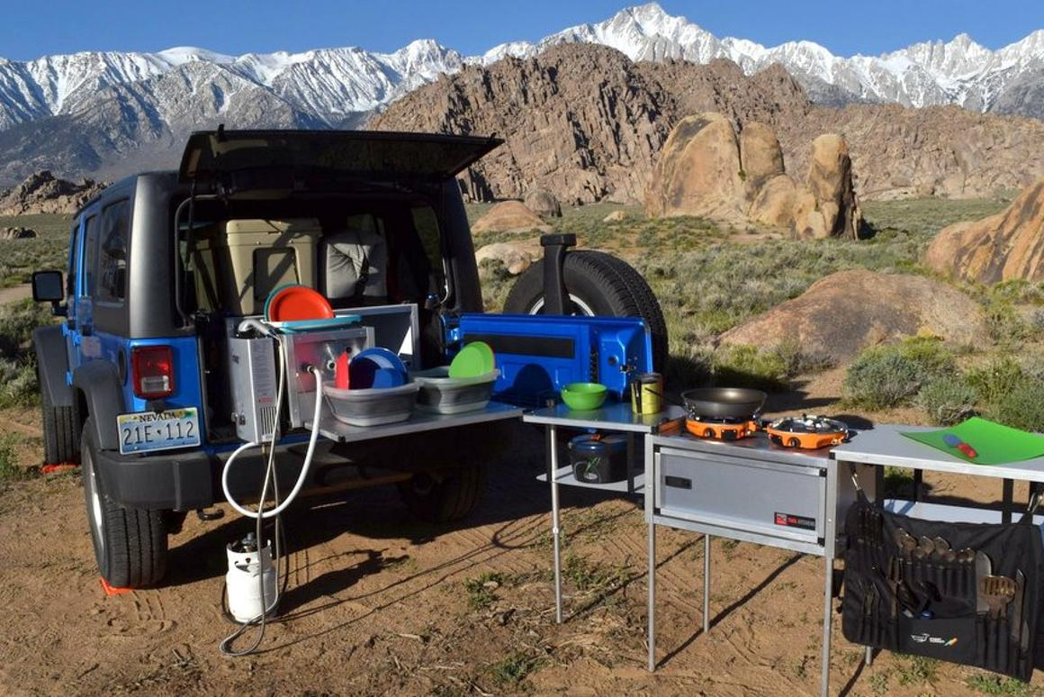 Camp Kitchens Wrangler Camping System in action