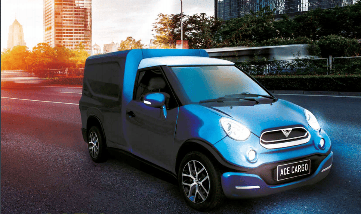The Ace Cargo is designed as a simple, practical electric delivery vehicle