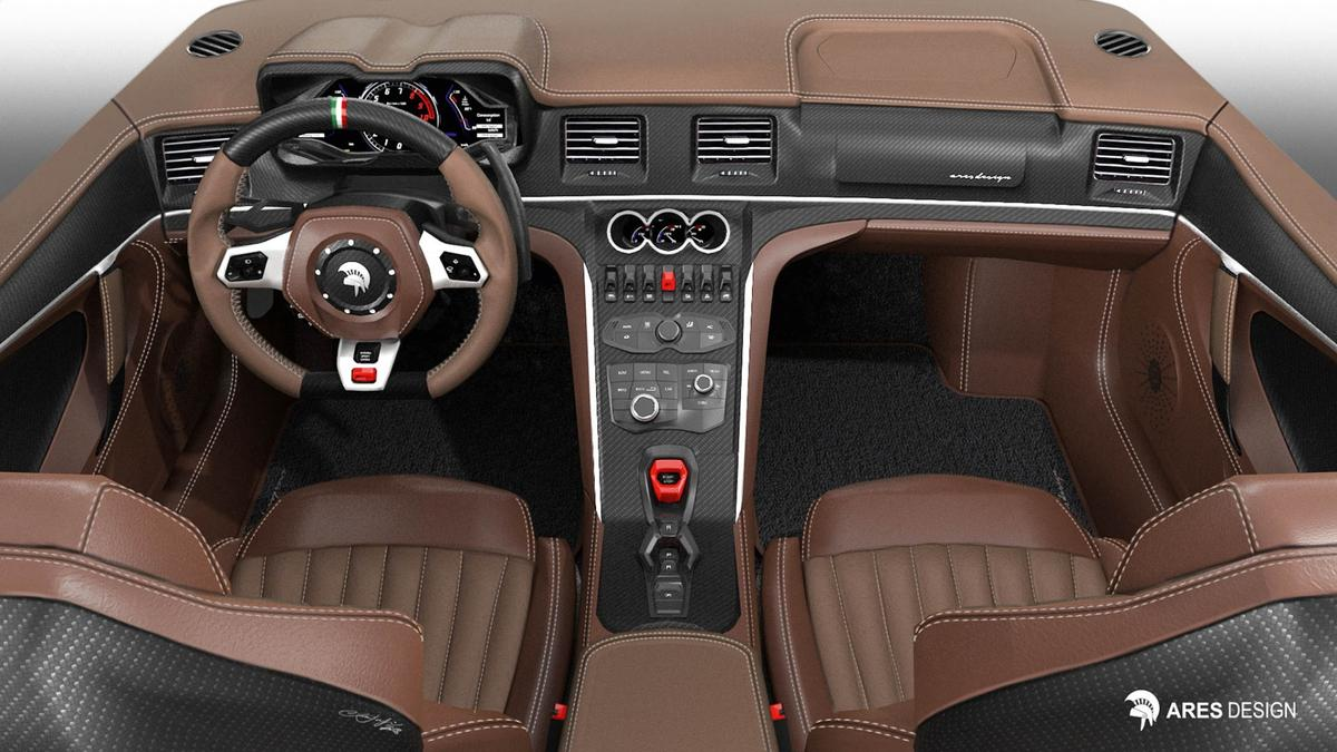 A rendering of the Panther ProgettoUno cockpit
