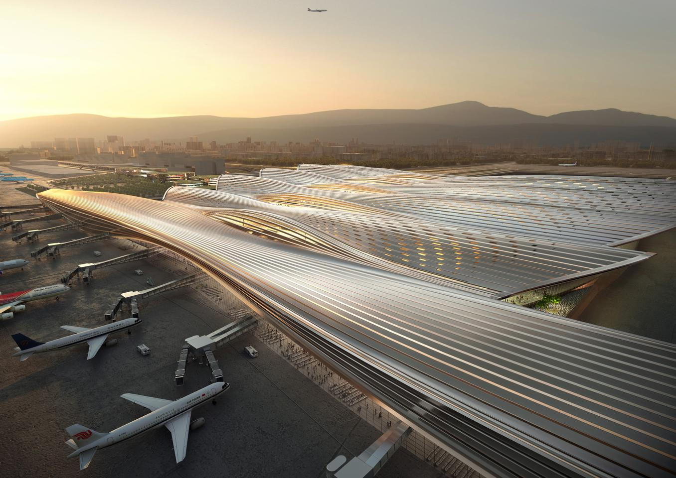 Shenzhen Bao'an International Airport Terminal 4 will measure 400,000 sq m (roughly 4.3 million sq ft) and serve up to 31 million passengers a year