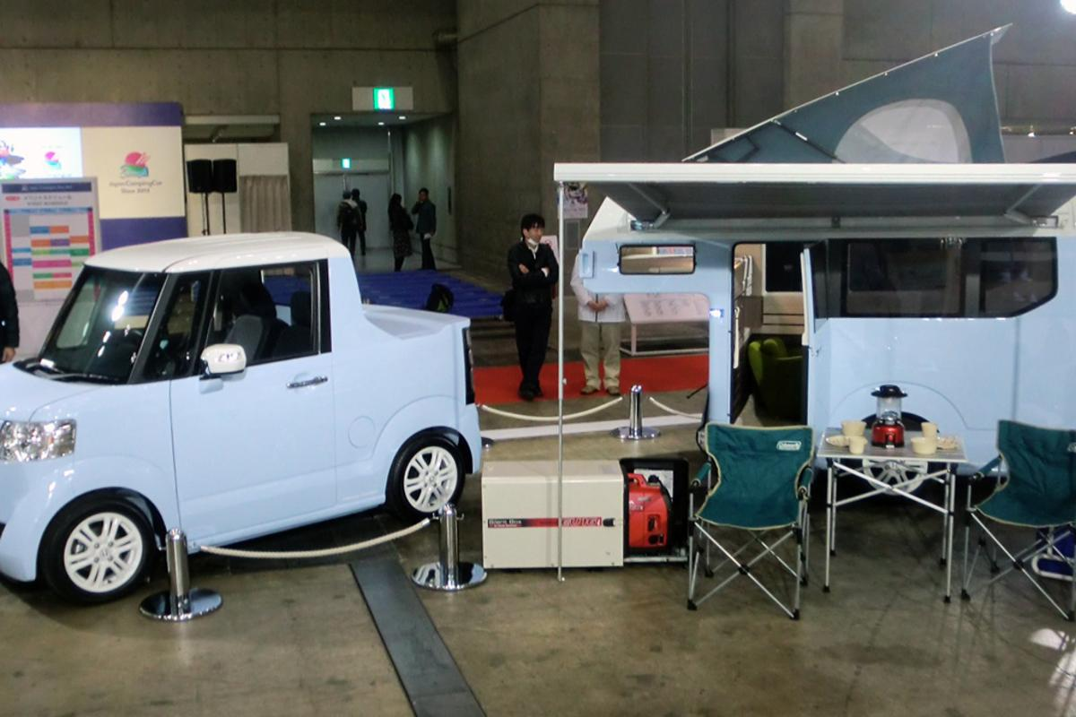 Honda's N-Truck and N-Camp concepts on display at the 2015 Japan Camping Car Show in Tokyo (Photo: Stephen Clemenger/Gizmag.com)