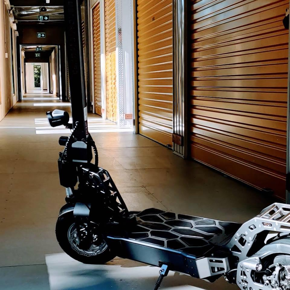 The C60 e-scooter is built using aerospace-grade aluminum