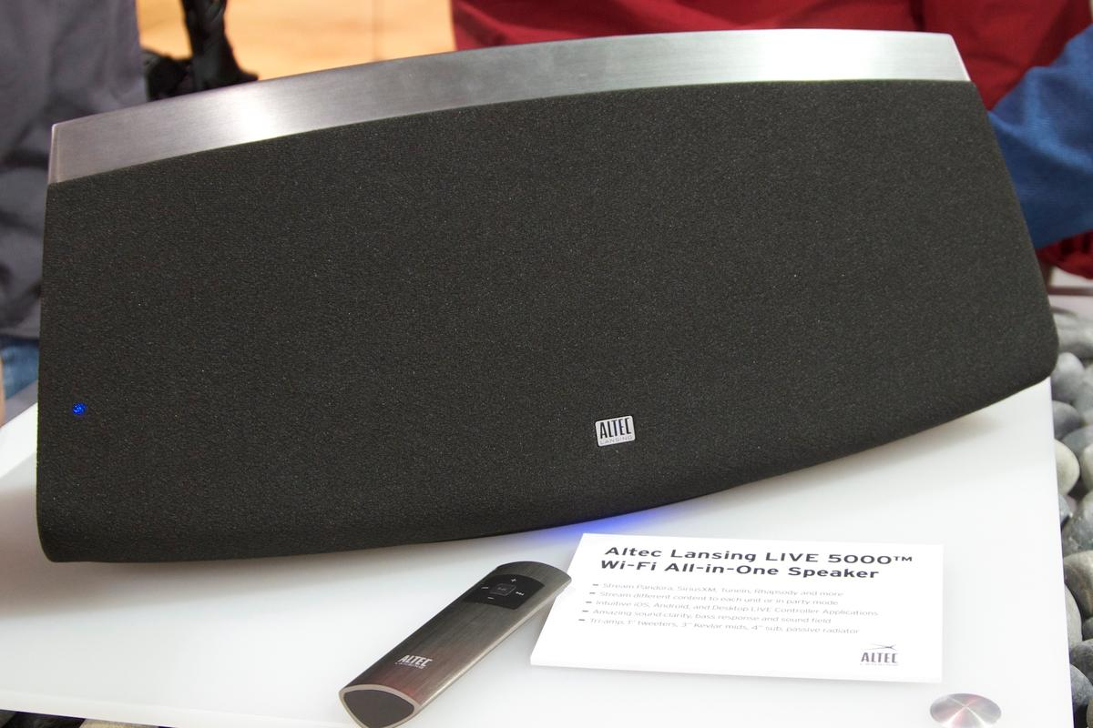Altec Lansing's new LIVE 5000 Wi-Fi speaker allows you to listen to streamed music in any room of your home