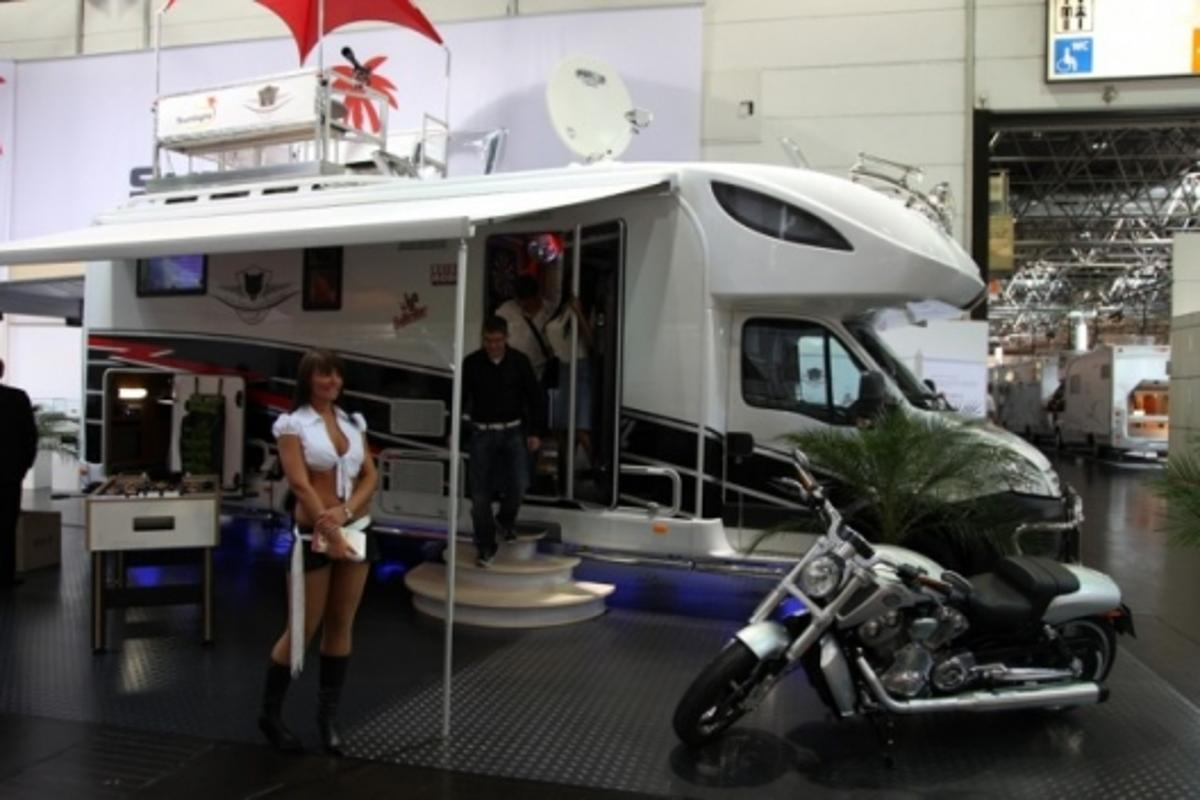 The made-for-men RV at the Caravan Salon Dusseldorf