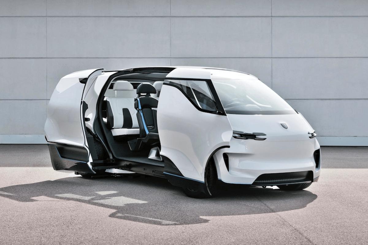 Porsche opens the doors of the Renndienst electric van concept