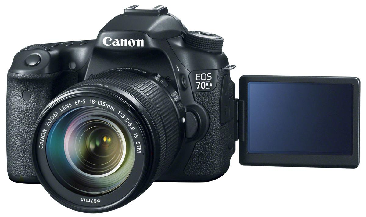 The Canon EOS 70D features Wi-Fi capabilities and a new Dual Pixel CMOS AF system