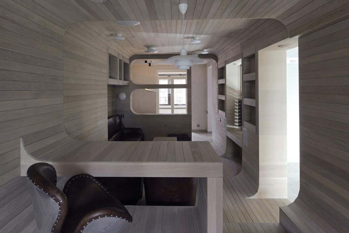 "Peter Kostelov's ""cabin"" apartment - not you average 5th floor abode"