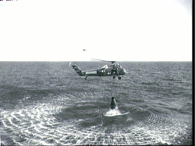Freedom 7 being recovered