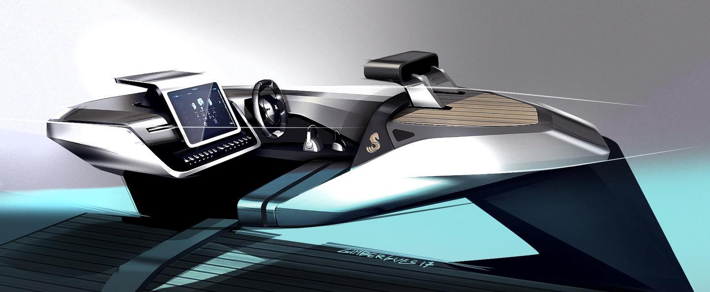Peugeot/Benetau Sea Drive concept: design sketch