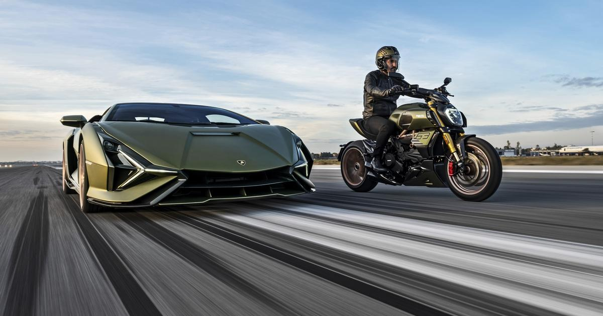 Ducati and Lamborghini team up for a special Diavel 1260