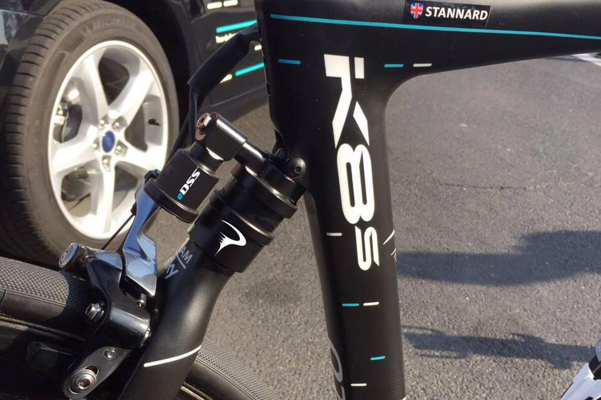 An eDSS 2.0 prototype, incorporated into the top of the seat stays