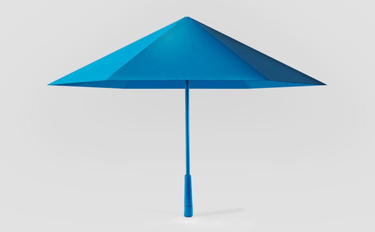 The Sa is made of plastic that's stiffer than typical umbrella fabric
